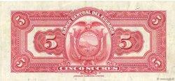 5 Sucres ÉQUATEUR  1945 P.091b TTB+