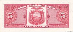 5 Sucres ÉQUATEUR  1966 P.100c SPL