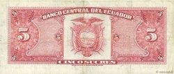 5 Sucres ÉQUATEUR  1961 P.113a TTB