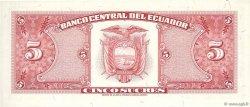 5 Sucres ÉQUATEUR  1966 P.113b SPL