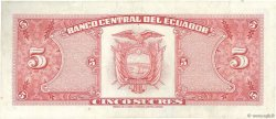 5 Sucres ÉQUATEUR  1970 P.113b TTB