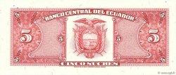 5 Sucres ÉQUATEUR  1988 P.113d pr.NEUF