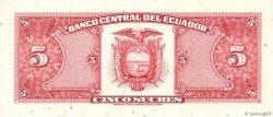 5 Sucres ÉQUATEUR  1988 P.113d SPL
