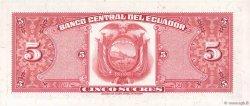 5 Sucres ÉQUATEUR  1970 P.100d NEUF