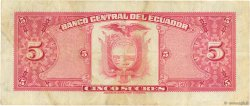 5 Sucres ÉQUATEUR  1975 P.108a TTB