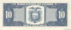 10 Sucres ÉQUATEUR  1986 P.121 NEUF