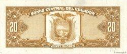 20 Sucres ÉQUATEUR  1976 P.110 SUP