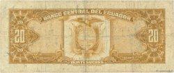 20 Sucres ÉQUATEUR  1976 P.110 TB