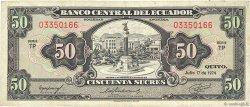 50 Sucres ÉQUATEUR  1974 P.116d TB+