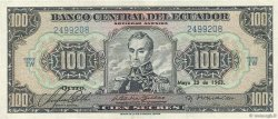 100 Sucres ÉQUATEUR  1963 P.117a TTB