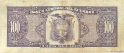 100 Sucres ÉQUATEUR  1992 P.123Ab TTB