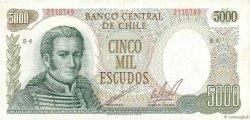 5000 Escudos CHILI  1974 P.147b TTB+