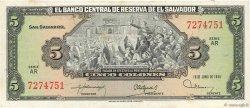 5 Colones SALVADOR  1992 P.132A TTB