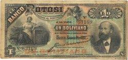 1 Boliviano BOLIVIE  1887 PS.221b pr.TB