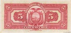 5 Sucres ÉQUATEUR  1938 P.084b pr.NEUF