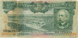 50 Escudos ANGOLA  1956 P.088a AB