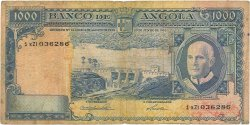 1000 Escudos ANGOLA  1962 P.096 B+