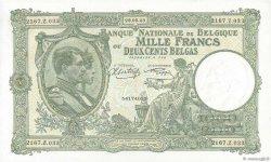 1000 Francs = 200 Belgas BELGIQUE  1943 P.110 pr.NEUF