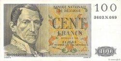 100 Francs BELGIQUE  1953 P.129a SUP