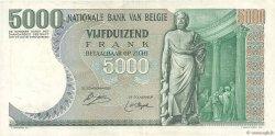 5000 Francs BELGIQUE  1977 P.137 TTB