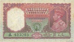 5 Rupees BIRMANIE  1945 P.04 pr.TTB
