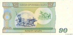 90 Kyat BIRMANIE  1987 P.66 pr.NEUF