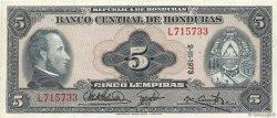 5 Lempiras HONDURAS  1973 P.56b SUP