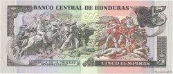 5 Lempiras HONDURAS  1985 P.63b SPL