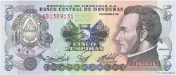 5 Lempiras HONDURAS  1985 P.63b NEUF