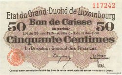 50 Centimes LUXEMBOURG  1918 P.026 pr.NEUF