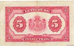5 Francs LUXEMBOURG  1944 P.43a pr.TTB