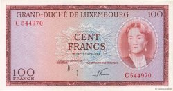 100 Francs LUXEMBOURG  1963 P.52 SUP+