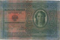 100 Korun TCHÉCOSLOVAQUIE  1919 P.004a TB