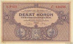 10 Korun TCHÉCOSLOVAQUIE  1927 P.020a TTB
