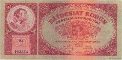 50 Korun TCHÉCOSLOVAQUIE  1929 P.022a TTB
