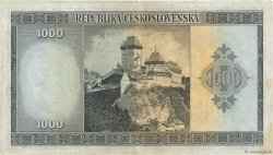 1000 Korun TCHÉCOSLOVAQUIE  1945 P.065a TTB