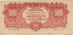 500 Korun TCHÉCOSLOVAQUIE  1944 P.049a TTB+