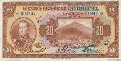 20 Bolivianos BOLIVIE  1928 P.122a SUP