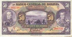 50 Bolivianos BOLIVIE  1928 P.124a TTB