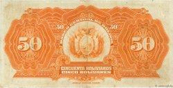 50 Bolivianos BOLIVIE  1928 P.124a TTB+