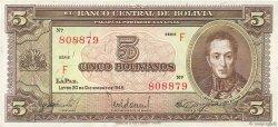 5 Bolivianos BOLIVIE  1945 P.138a SPL