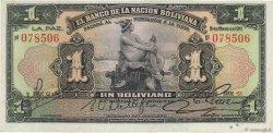 1 Boliviano BOLIVIE  1911 P.103a pr.NEUF