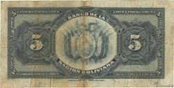 5 Bolivianos BOLIVIE  1911 P.105b TB