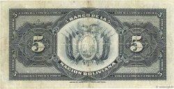 5 Bolivianos BOLIVIE  1911 P.105b TB+
