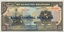 5 Bolivianos BOLIVIE  1929 P.113 NEUF