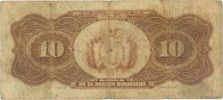10 Bolivianos BOLIVIE  1929 P.114a B+