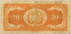 20 Bolivianos BOLIVIE  1911 P.109b B