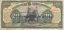 20 Bolivianos BOLIVIE  1929 P.115 pr.B
