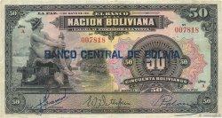 50 Bolivianos BOLIVIE  1929 P.116 TB+