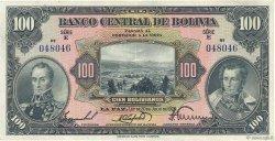 100 Bolivianos BOLIVIE  1928 P.125a SUP